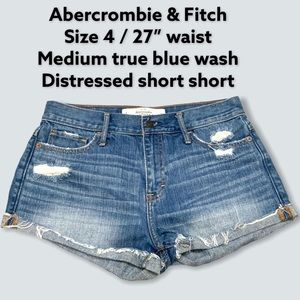 """NWOT Abercrombie &Fitch 4 / 27"""" waist booty shorts"""